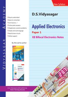 Complete notes of Paper-1 for the students of 12th std. bifocal electronics in India.