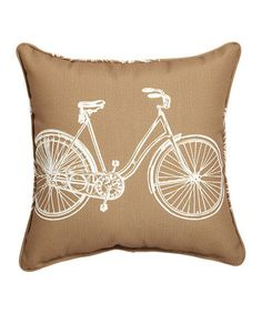 Loving this Bicycle Burlap Pillow on #zulily! #zulilyfinds