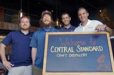 From left, Evan Hughes, Brian Blazel, Pat McQuillan and Brandt Foster opened up the craft distillery Central Standard Craft Distillery, 613 ...