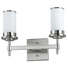 Hampton Bay - 14 In Wall mount fixture, brushed nickel finish - WB 838/2 BN - Home Depot Canada  nautical bathroom vanity lighting idea