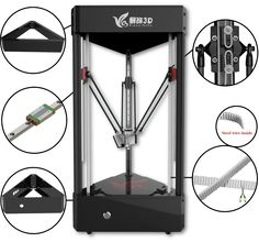 The Ares Delta-Style Multi-Tool 3D Printer