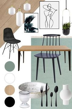 Interior Home Design Trends For 2020 - Ideas Room Colors, House Colors, Green Dining Room, Dining Rooms, Home Design, Interior Design, Vases Decor, Home And Living, Living Room Decor