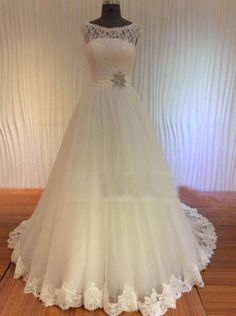 WD43 Ball Gown Lace Wedding Dresses,Wedding Dress,Custom Made Wedding Gown,
