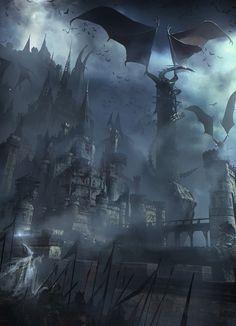 Dark Castle Fantasy World #dragon #wizard MEDINHO....