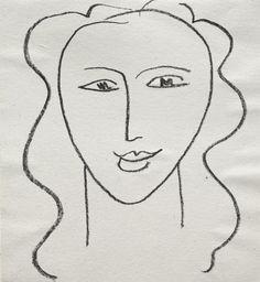 Face / Henri Matisse / lithograph