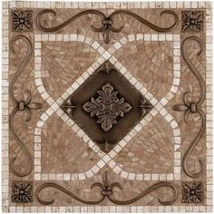 Metal Mural Renaissance Mosaic Tile Backsplash