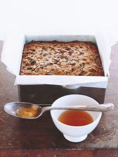 grandma's fruit cake ♡ INGREDIENTS 3 cups raisins cups sultanas 1 cup currants ¾ cup chopped dates 1 cup slivered almonds ¾ cup fl oz) brandy oz) butter, sof. Xmas Food, Christmas Cooking, Christmas Desserts, Christmas Cakes, Christmas Entertaining, Christmas Fruit Cake Recipe, Dark Fruit Cake Recipe, Christmas Stuff, Baking Recipes