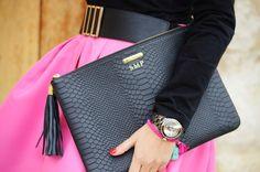 GiGi New York   1000 maneras de vestir Fashion Blog   Black Uber Clutch