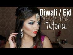 Tutorial | EASY Black Smokey Eye Tutorial + Nude Lips! | Kaushal Beauty - YouTube