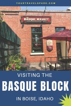 Boise, Idaho is becoming a great destination to visit - whether it be for skiing, breweries, or nightlife. Here are some tips for visiting the Basque Block while in Boise, Idaho. Packing Tips For Travel, Travel Essentials, Travel Ideas, Watkins Glen New York, Wyoming Vacation, Utah Hikes, Colorado Hiking, Boise Idaho, Christmas Travel