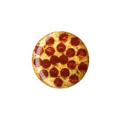 Pepperoni Pizza Pin | Hot Topic (€1,86) ❤ liked on Polyvore featuring jewelry, brooches, pin brooch, button jewelry and pin jewelry