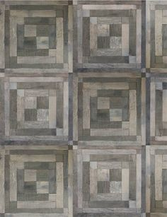 Signet Collection by Commune + Exquisite Surfaces. Reclaimed French oak floors in fully modular Bauhaus patterns; graphic motifs inspired by geometric designs from Latvian textiles.