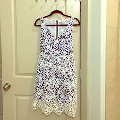Anthropologist lace overlay dress Size 0 NWOT. Perfect for spring/summer Anthropologie Dresses