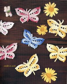 Crochet En Acción - decorative butterflies pattern