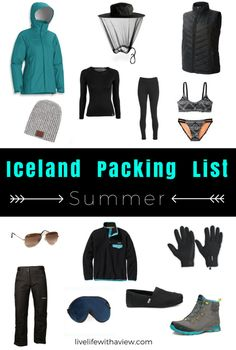 "Don't let the word ""summer"" fool you, Iceland doesn't get that warm! Make sure you have the right gear in your suitcase to make sure your summer trip in Iceland is the best! Iceland Packing List - What to Pack for a Winter Trip in Iceland 
