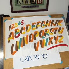 Original casual by Pierre Tardif #signwriting #signpainting #lettering #workshop #thedailytype #casual #handlettering