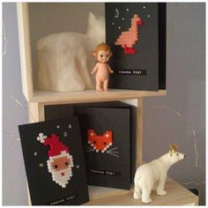 weihnachtskarte hamaperlen
