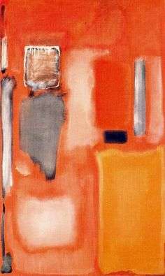 Mark Rothko | No. 19, 1949.  One of the many things I love about Rothko is that even through his beautiful colors and brush strokes you can see the canvas.