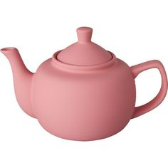 CB2 Pots Teapot (17 CAD) ❤ liked on Polyvore featuring home, kitchen & dining, teapots, fillers, kitchen, decor, tea, tea pot, pink tea pot and tea-pot