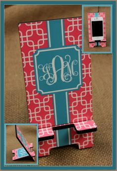 Hey, I found this really awesome Etsy listing at https://www.etsy.com/listing/197676626/cell-phone-stand-monogrammed-gift