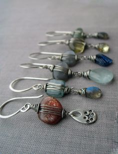 "New ""pebble"" earrings I've been working on."