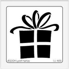 christmas clip art black and white for silhouette - Yahoo Search Results Yahoo Image Search Results Free Stencils, Stencil Templates, Stencil Patterns, Hand Embroidery Patterns, Stencil Designs, Christmas Gift Box, Christmas Projects, Christmas Stencils, Christmas Paintings