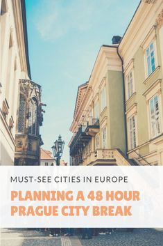 Prague is a must-see city in Europe. So here's everything you need to know for Planning a 48 Hour Prague City Break. It's the Czech Republic's most visited city and it's easy to see why! Solo Travel, Travel Tips, Cities In Europe, Travel Europe, Prague City, Prague Travel, Prague Czech Republic, City Break, Where To Go