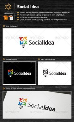 Social Idea	 Logo Design Template Vector #logotype Download it here: http://graphicriver.net/item/social-idea/5484291?s_rank=105?ref=nexion