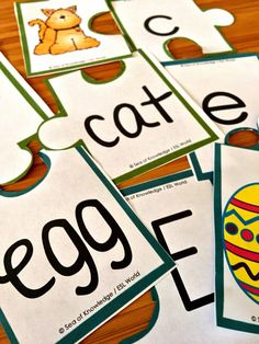 I needed something to assist the children in matching uppercase and lowercase letters along with their pictures and words. These puzzles help the students identify the letters all along read the words and build upon their literacy skills. The best thing about these is that they are very suitable for visual & ESL learners.