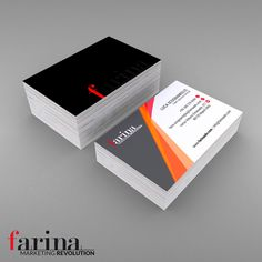 Mockup of the business card of the creative studio FarinaADV