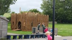 Playhouse castle made for long Crendon school Bucks
