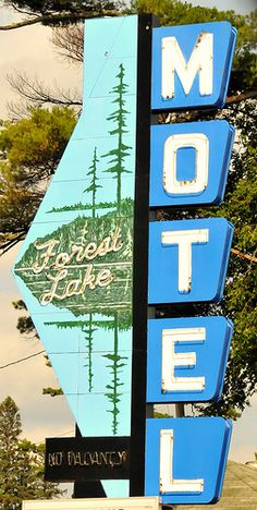 Vintage Neon Sign | Forest Lake Motel | Grand Rapids, Minnesota