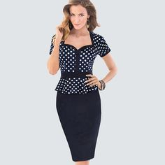 >> Click to Buy << Midi spring summer causal Women Office work business Knee-length Bodycon bandage Pencil patchwork cotton women's dress 926 #Affiliate