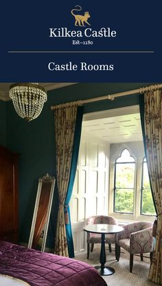 The luxurious Kilkea Castle Estate & Golf Resort located in Co. Kildare, just one hour from Dublin. Castle Hotels In Ireland, Stay In A Castle, Castle Rooms, Best Rated, Lodges, Bedrooms, Luxury, Furniture, Home Decor