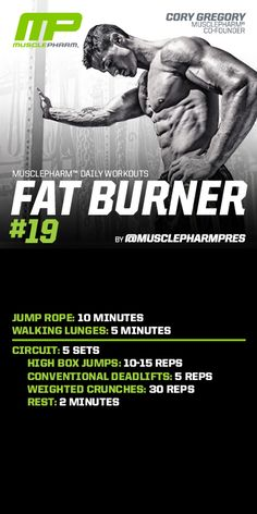 Fat Burner #19 | Schede allenamenti palestra www.technonutrition.it