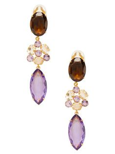 Quartz & Amethyst Drop Earrings from Gifts for Her: Under $350 on Gilt