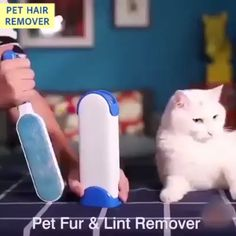 OFF JUST TODAY Ultimate Pet Hair & Fur Remover Brush Still using refillable remover or tape to clean pet fur and lint? This reusable pet hair remover lets you get rid of your pet's fur wi House Cleaning Tips, Cleaning Hacks, Dorm Cleaning, Cleaning Brushes, Cleaning Products, Lint Remover, Cool Inventions, Useful Life Hacks, Clean House