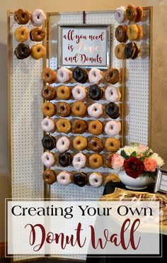The newest dessert trend sweeping the wedding world has us in confection heaven. We can't get enough of these donut walls - the perfect delectable, edible art! You read that right. As brides continue to lean towards non-traditional wedding treats, we've seen a growing number of dessert tables that forego classic cakes, cupcakes, cookies, and candy to make room for a dazzling display of donuts. See more at http://blog.myweddingreceptionideas.com/2016/10/elegant-wedding-donut-wall.html