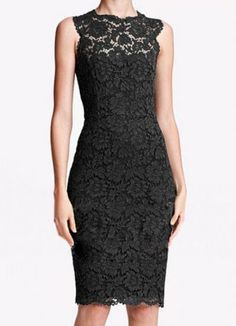 Black Sleeveless Lace Bow Back Bodycon Dress - Sheinside.com Mobile Site (sold out)