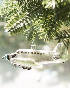 Charming vintage airplane ornament