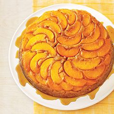 Learn how to make Peach Upside-Down Cake. MyRecipes has 70,000  tested recipes and videos to help you be a better cook