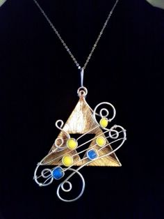 Zelda Triforce Pendant Song of Storms by EpicNecks on Etsy, $35.00
