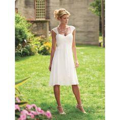 Wedding Dresses for Second Marriages   ... Cap Sleeves Casual Beach Destination Wedding Dresses hiwdt18