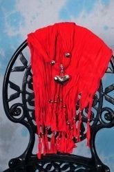 Skjerf med anheng - Rødt - Graceful