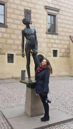 castle district, prague Visit Prague, Prague Castle, Interesting Buildings, Statue, City, Collection, Cities, Sculptures, Sculpture