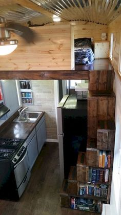Amazing loft stair for tiny house ideas (54)