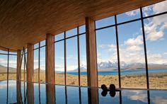 """Panorama-Bad:  """"Tierra Patagonia"""" in Chile, gestaltet von Cazu Zegers..."""