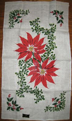 Vintage Kitchen Holiday/Christmas Towel by in2vintagecloths, $30.00