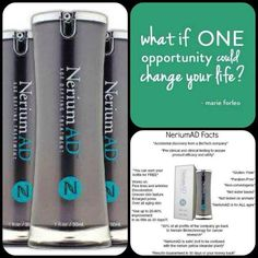 Nerium Ad Age Defying Treatment | Breakthrough AntiAging Products For Your Health and Finances. Nerium AD A REAL Opportunity with REAL People, REAL Science, REAL Results. Make $$$$$$ join my Team and become a Brand Partner and start your own business! www.krishansen.nerium.com   https://www.facebook.com/pages/Nerium-Brand-Partner-Kathleen-Johnson/553265828021921