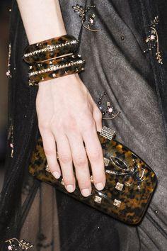 Maison #Valentino. #tortoiseshell #clutchbag #bangle #fashion #accessories #runway